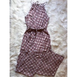 NWT Vici Collection Mauve Polka Dot Jumpsuit